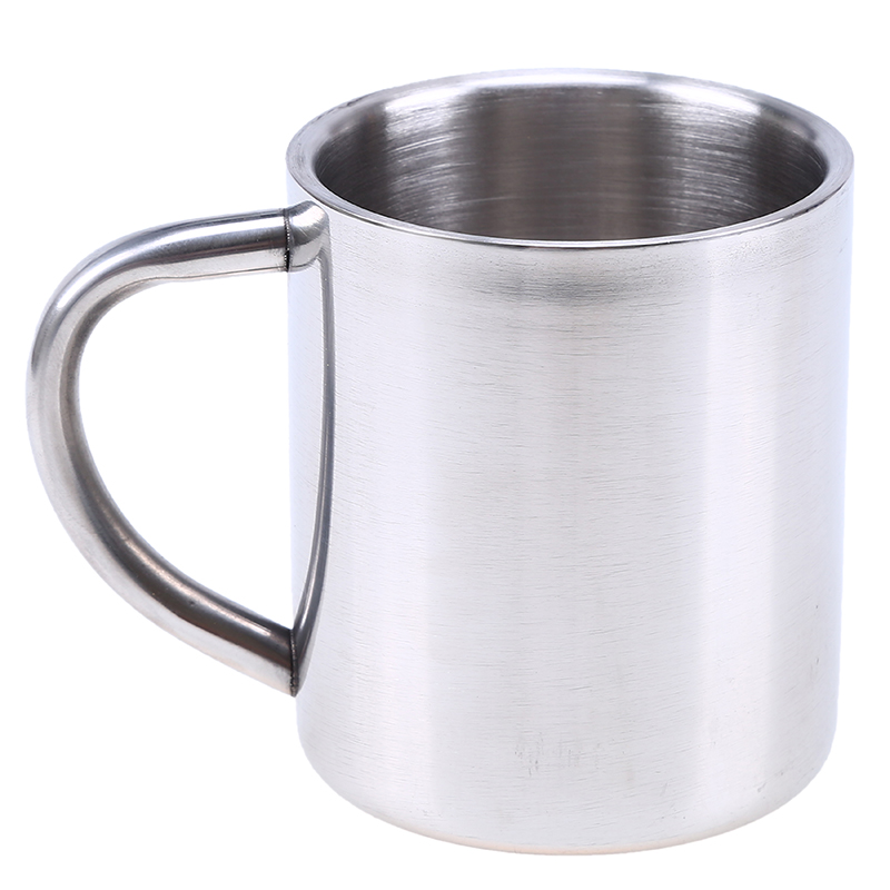 coffee mug 230ml double wall layer insulation stainless steel water beer whisky tumblers mug cup. Black Bedroom Furniture Sets. Home Design Ideas