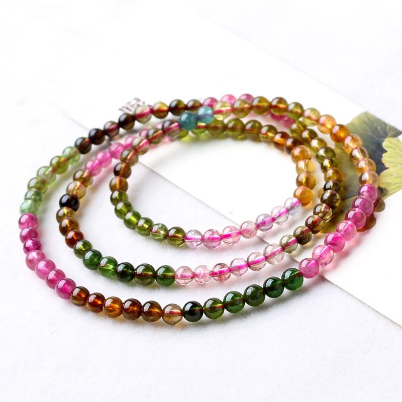 Здесь продается  Rainbow Tourmaline Three Laps Bracelets Tourmaline Multi-turn Bracelets Crystal Fashion Jewelry Gifts Female Models  Ювелирные изделия и часы