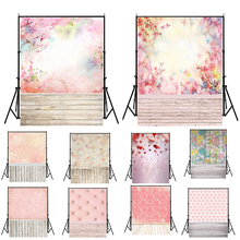WHISM 5x7ft 150x210cm Photo Props Wedding Baby Shower Photography Backdrop Pink Flowers Children Vinyl Party Background