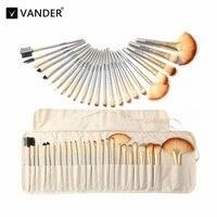 Vanderlife 24 Pcs Premiuim Makeup Brush Set High Quality Soft Hair Professional Make Up Brushes Tool