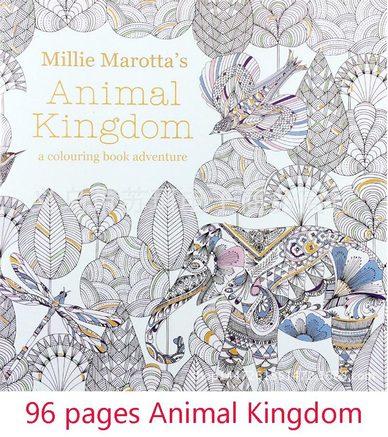 ✓Secret Garden series Reino Animal en inglés colorear libro para ...