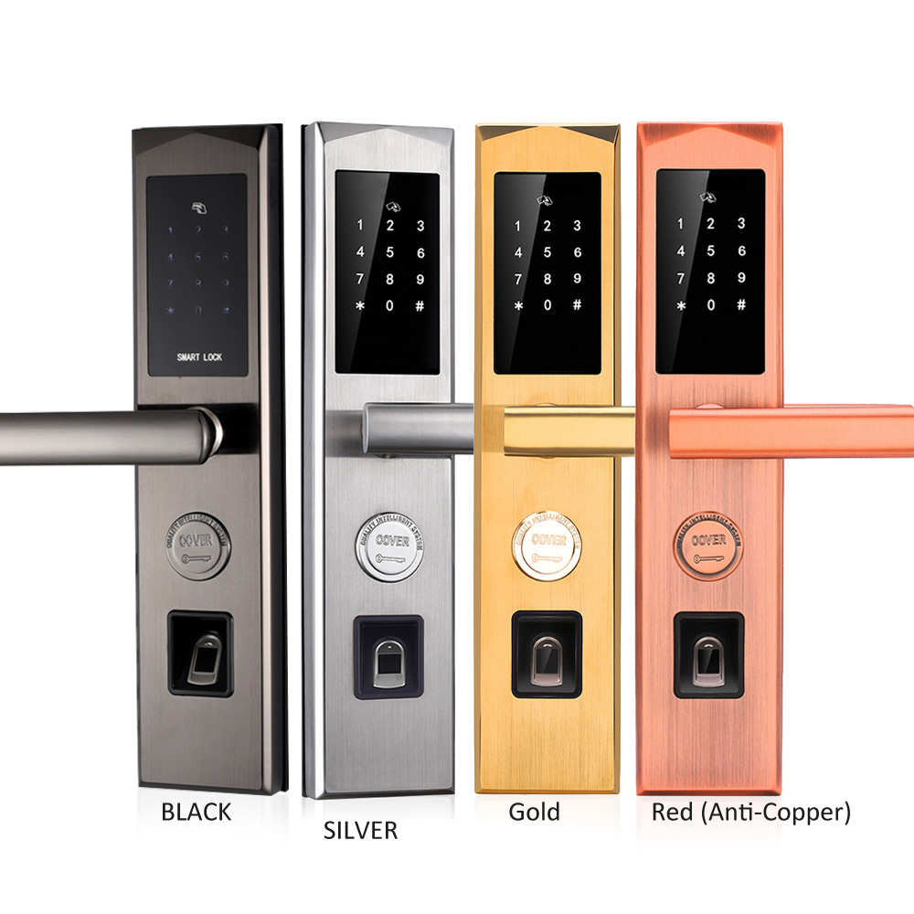 Smart Door Lock WIFI App Bluetooth Electronic Outdoor Waterproof Biometric Fingerprint Scanner Keyless Fingerprint Door Lock one for five electronic door lock bluetooth biometric smart fingerprint electronic lock for outdoor entry door
