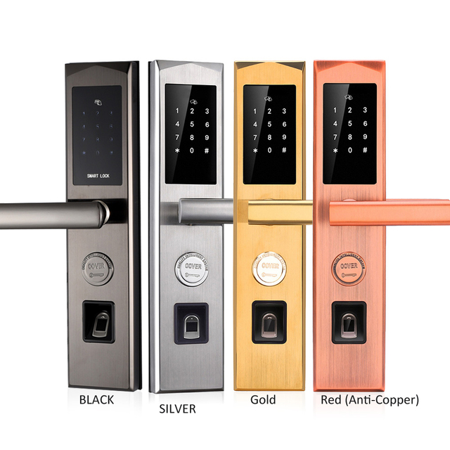 Smart Door Lock WIFI App Bluetooth Electronic Outdoor Waterproof Biometric Fingerprint Scanner Keyless Fingerprint Door Lock