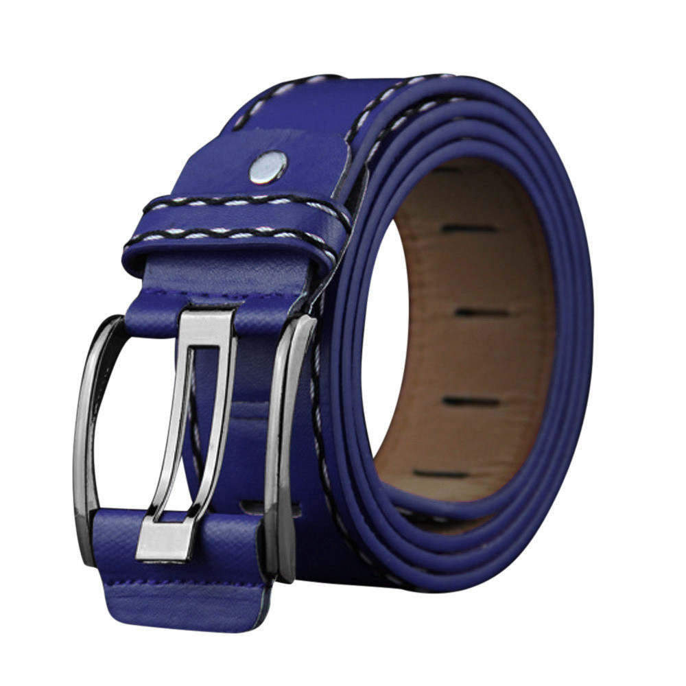Men Belt Black 2019 New Fashion Mens Leather Smooth Girdle Buckle Waistband Waistband Leisure Belts Strap Men Belt