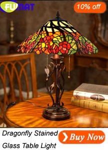 Dragonfly Stained Glass Table Light