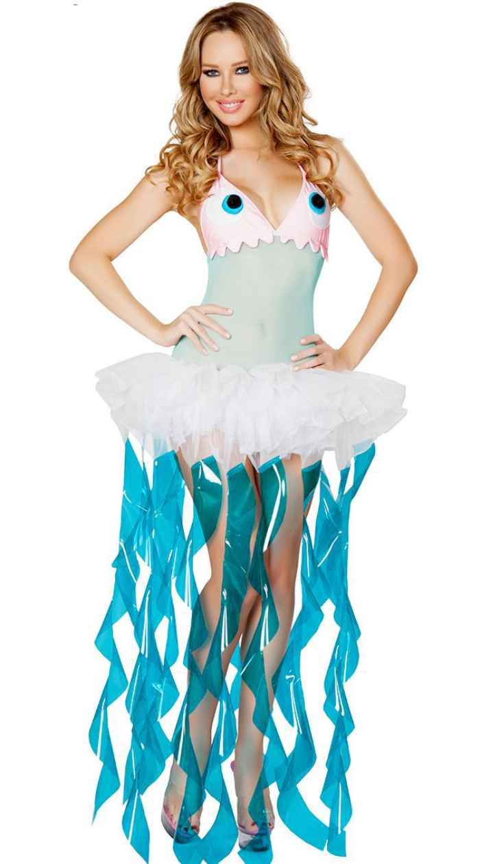 Deluxe female Adult jellyfish costume Animal funny Halloween fancy ...