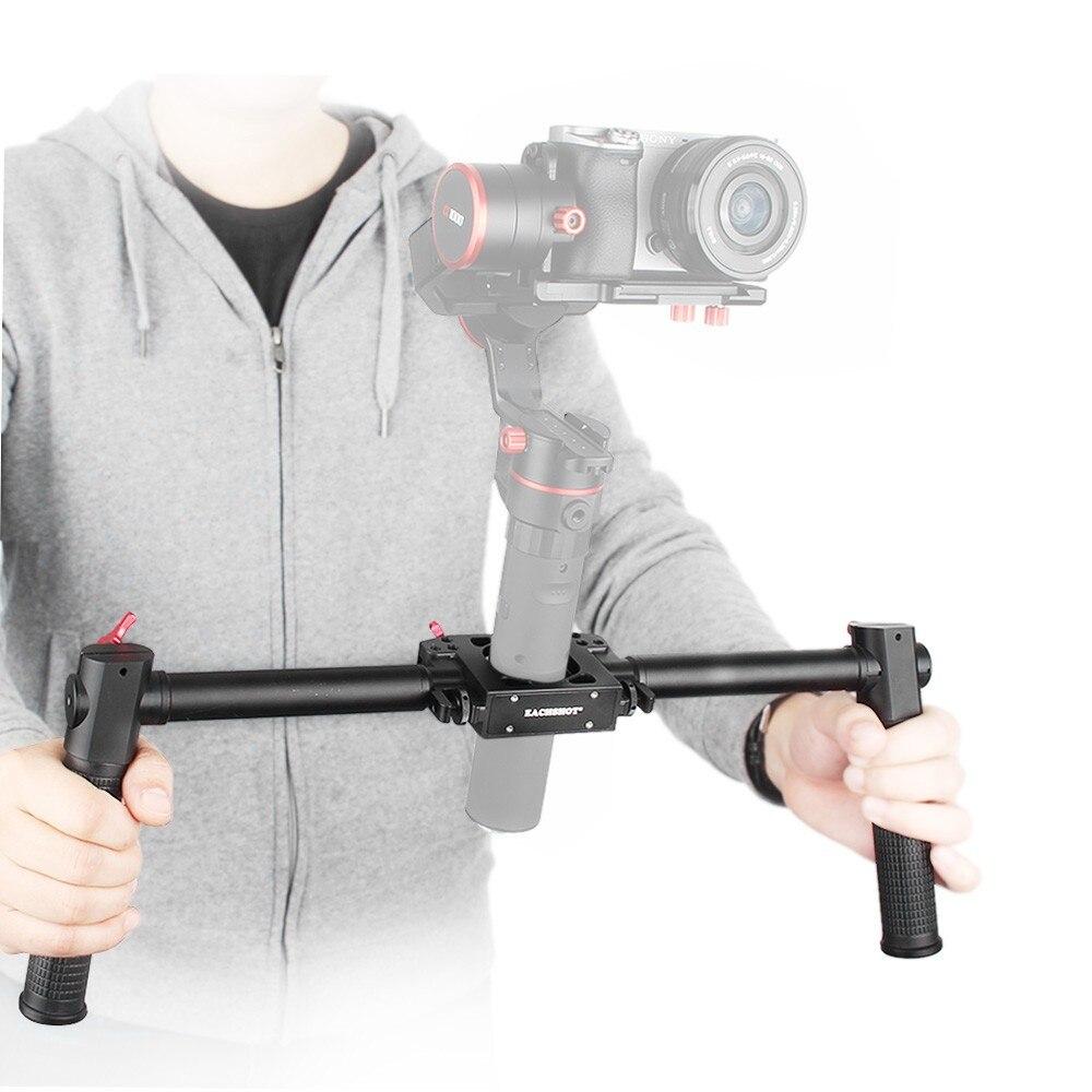 лучшая цена EACHSHOT DH-1 Dual Handle Gimbal Grip Handheld Handlebar for Zhiyun Crane 2 Crane V2 Feiyu a1000 a2000 Gusen MOZA Air Aircross