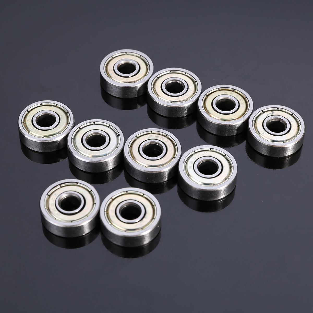 10pcs/Lot Reliable 625ZZ Ball Bearings Carbon Steel Single Row Deep Groove Radial Ball Bearing 5*16*5mm With Grease Mayitr 10pcs small wear 608zz ball bearing mayitr carbon steel precise deep groove bearings for skateboard roller blade scooter