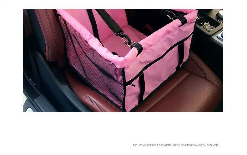 Top quality Foldable pet carrier dog bag for small dogs Waterproof Safety Front Back Seat Dog Cat Car Hammock Carrier Basket (9)