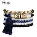Artilady beads tassel bracelet bangles fashion multilayer beads tassel bracelet for women boho jewelry gift