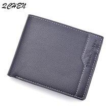 Man's wallet Fashion Men Wallets Coin Bag no Zipper Small Money Purses Dollar Slim Purse Money Clip Wallet Buckle wholesale 409