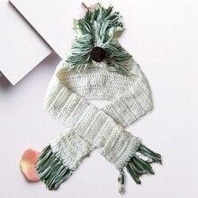 Новая мода Девушки Единорог шарф ручной работы детская зимняя шапка Обёрточная бумага шапочка-единорог милые Осенние теплые детские трикотажные наборы шарфов