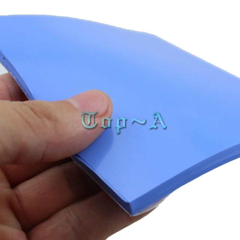 1Pcs Gdstime 100mm x 100mm x 5mm GPU CPU Heatsink Cooling Conductive Silicone Pad VGA Fan Thermal Pad 5cm Thickness High Quality gpu cpu heatsink cooling thermal conductive silicone pad 100mmx100mmx0 5mm