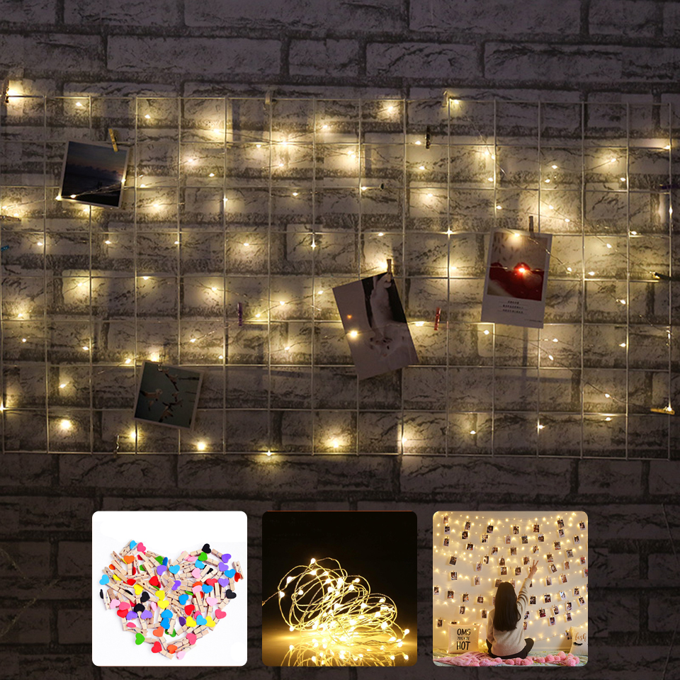 LED String lights 10M 5M 2M 1M Silver Wire Garland Holiday Christmas Wedding Party Decoration Battery Powered 5V USB Fairy light