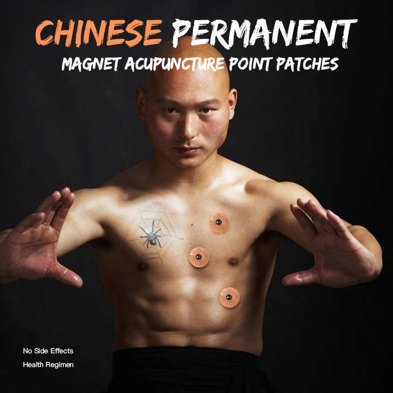 10 sztuk/arkusz do pielęgnacji ciała blachy magnetyczne terapii plastry magnes ciała ulgę w bólu zdrowia magnes naturalne Acupoint narzędzie do terapii, jak widać