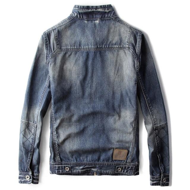 Motoryzacyjny styl Denim kurtka dla mężczyzn wiosna i jesień sezon nastolatek Cowboy mężczyzna Jean kurtka i płaszcze Streetwear ładne C1462