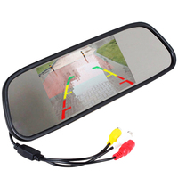 5 Inch Color TFT LCD Car Mirror Monitor Screen Car Rearview Mirror Monitor Vehicle Rear View Reverse Monitor for DVD Camera VCR