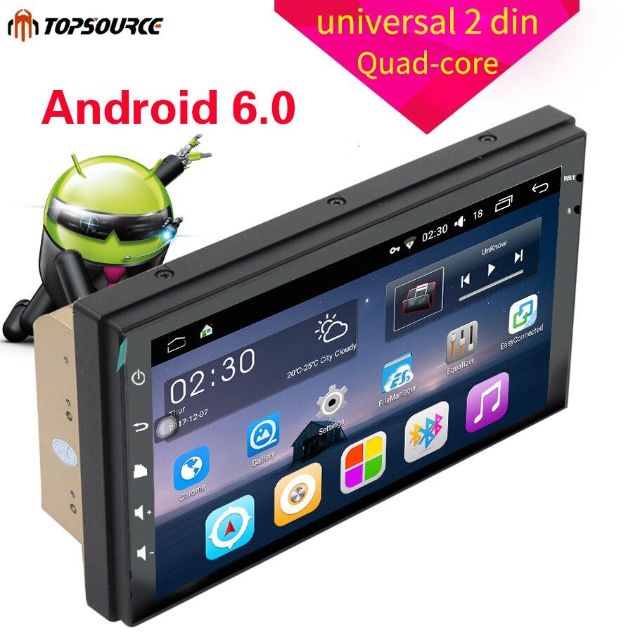 TOPSOURCE 7 universal 2 din voiture radio gps android 2din Voiture Lecteur DVD GPS NAVIGATION Pour VW Nissan TOYOTA Volkswagen peugeot