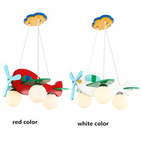 Creative E27 Pendant Lights For Children Bedroom Hanging Lamp Wood 3 Heads Colorful Home Lighting Pendant Lamps for Kids Baby