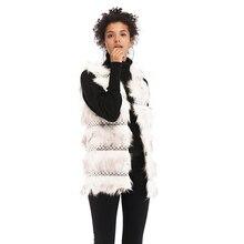 New Winter Women Vest Street Hipsters Womens V-neck Plush Sleeveless Cardigan Colete Feminino Inverno