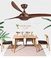 Пост-современный 52-дюймовый коричневый деревенский потолочный вентилятор без освещения минималистичный потолочный вентилятор для столов...