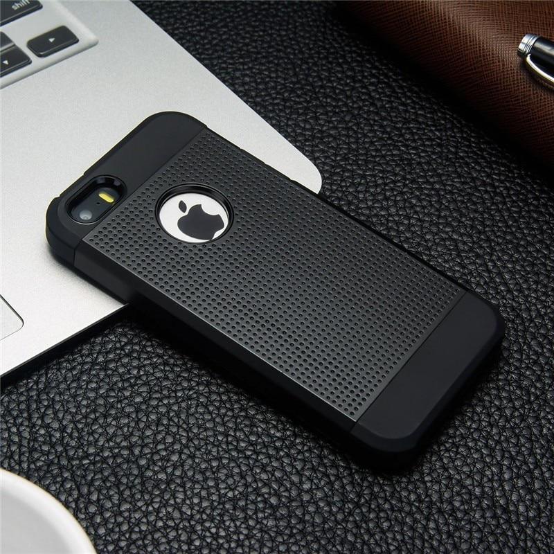 Iphone 6 S 6S Plus հիբրիդային սիլիկոնային - Բջջային հեռախոսի պարագաներ և պահեստամասեր - Լուսանկար 6