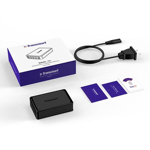 Tronsmart 5 портов USB PD зарядное устройство U5P быстрое зарядное устройство 60 Вт USB-C питания быстрое зарядное устройство для samsung Galaxy S9, S9 Plus, iphone x - Тип штекера: США