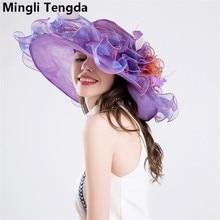 Свадебные шляпы из органзы в стиле ретро для элегантных женщин, свадебные шляпки, свадебные шляпки с свадебными аксессуарами mingli Tengda