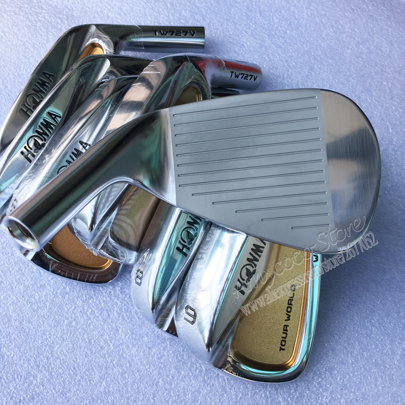 Image 3 - New Mens Golf irons head HONMA TW727V 24k gold irons Golf head set 4 10 Irons Golf Club head no Clubs shaft Free shipping-in Club Heads from Sports & Entertainment