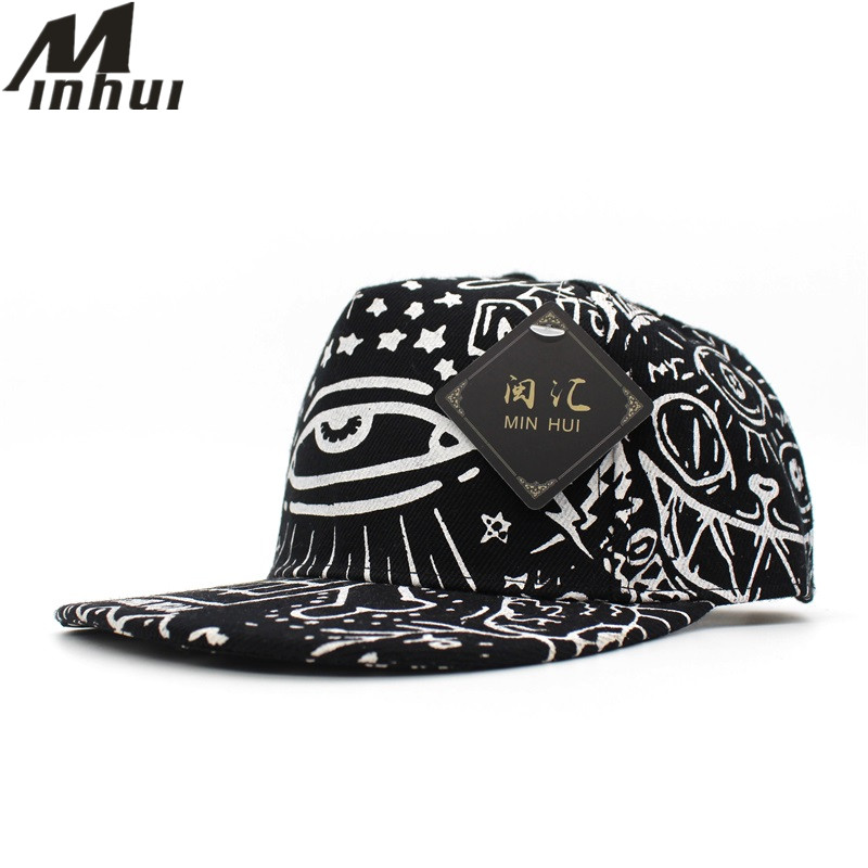 Minhui Harajuku Hip Hop Baseball Caps Children Gorras Snapback Eyes Pattern Hats for Kids Boys Sun Hat 2016 new kids minions baseball cap fashion adjustable children snapback caps gorras boys girls gorras planas hip hop hat 2202