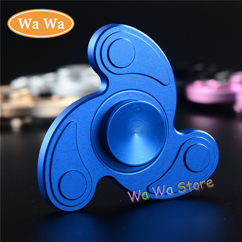 EDC Hand Spinner Gold Black Silver pink blue Aluminum Two Spinner Fidget Toy Plastic Rotation Time