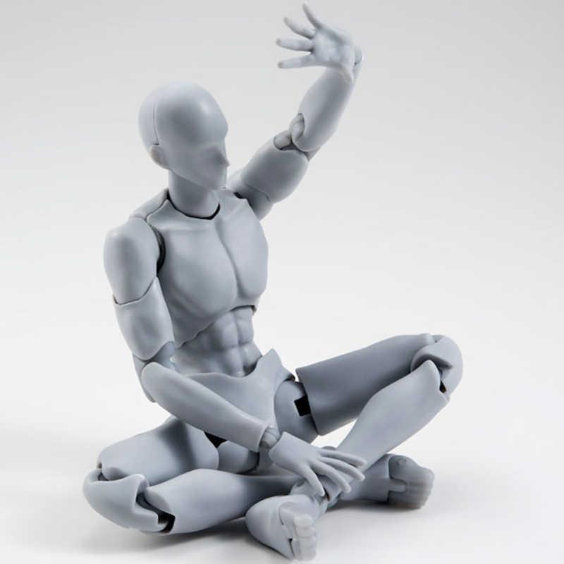 14cm Beweegbare vrouwelijke mannelijk lichaam Action Figure Speelgoed Anime figuur pop Tekening Mannequin bjd kunstenaar Art schilderij body model poppen