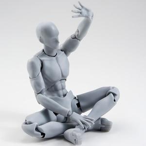 Image 4 - 14cm מטלטלין נקבה זכר גוף פעולה איור צעצועי אנימה איור בובת בובת ציור bjd אמן אמנות ציור גוף דגם בובות