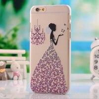 מקרה טלפון 3D גביש יהלום חמוד Cartoon נקה מוצק עבור iphone 7 בתוספת 7 s 6 s 6 גרם בתוספת 5S קייס טלפון ריינסטון עבור iphone 5 6