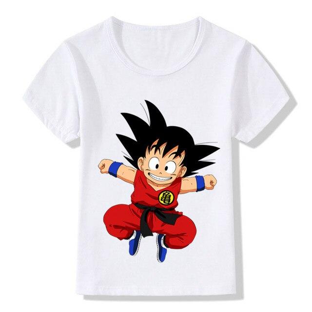 edda499be Children Cartoon Cute Toddler Goku Design Funny T shirt Kids Baby Anime  Dragon Ball Z T shirt