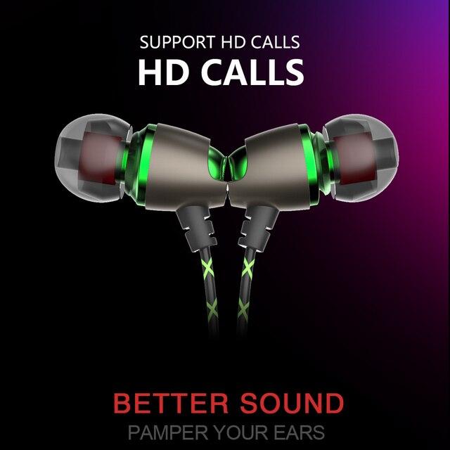 Earphone Magnetic in-Ear Earphone Noise Cancelling Headsets  In Ear Earphones HiFi Ear Phone Stereo BASS Metal