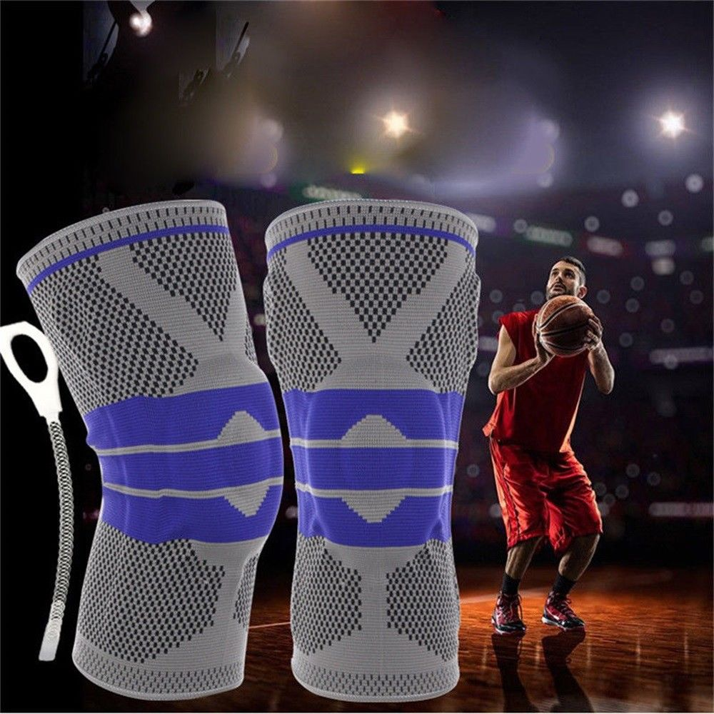 2018 Brand New Sports Knee Support Pad High Compression Silicone Padded Knee Sleeve Brace Knee Pad