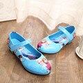 Sapatas das meninas 2016 Primavera Crianças Dos Desenhos Animados Crianças Sapatilhas Sapatilhas Sapatos Para As Meninas À Prova D' Água Esportes Sapatos Casuais Sapatas Da Escola Da Menina