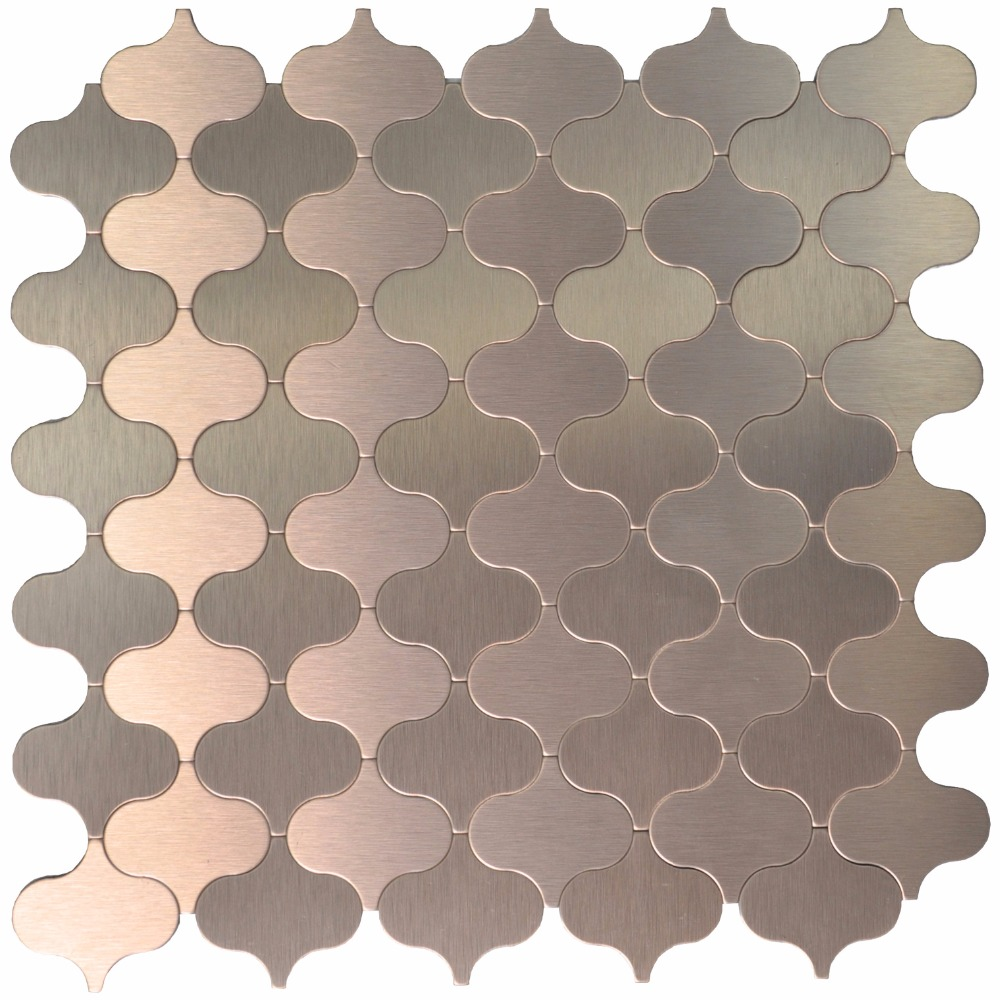Alluring Peel Stick Tile Metal Mosaic Steel Backsplashes Decorative Wall Arabesque Wall Stickers From Home Garden Peel Stick Tile Metal Mosaic Steel Backsplashes Decorative Wall houzz 01 Arabesque Tile Backsplash