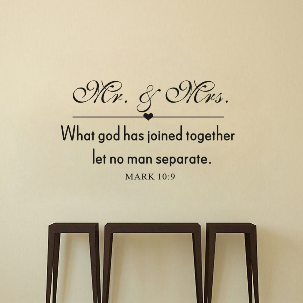 God Quote Love Quote Mr & Mrs What God Has Joined Together Let No Man