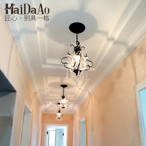 ФОТО  Nordic bedroom chandelier minimalist personality simple European aisle lights American corridor lamp crystal lamp lamp