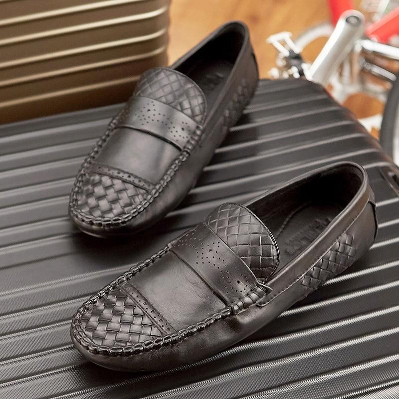 Qualité Mocassins Schuhe Chaussures Conduite Mycoron Haute Cuir Luxe Doux Designer Herren Appartements Nouvelle Casual Hommes En Noir De thrCQsxd