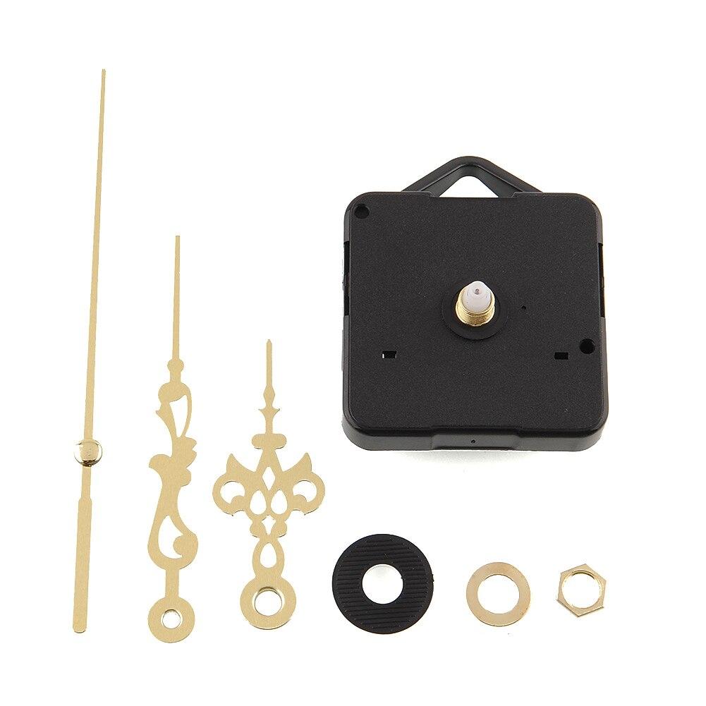 Качественные кварцевые часы, механизм, запчасти, набор инструментов с золотыми стрелками, тихие Запчасти для настенных часов, часовой механизм, запчасти для часов, сделай сам, поставка