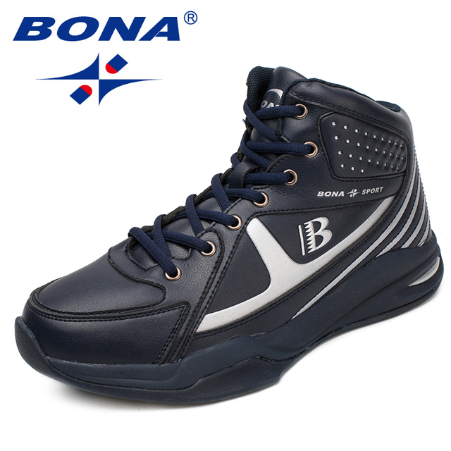 Bona New Arrival Style Men Basketball Shoes Lace Up Men Athletic