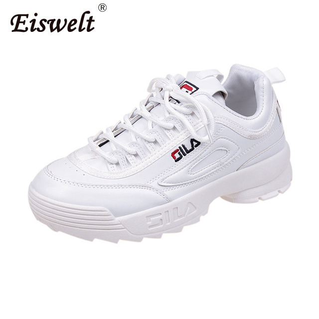 EISWELT 2018 New Women Running Shoes Disruptor 2 Sneakers Cushioning Height Increasing Platform Breathable Wave Sports Walking