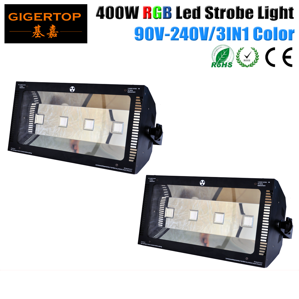 Discount Price 2 Pack 400W LED Flash Party Disco Mini Strobe Stage Light DJ Lighting 3 Color To Choose Martin Stage Effect Light