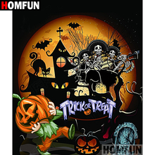 HOMFUN Full Square/Round Drill 5D DIY Diamond Painting Cartoon halloween 3D Embroidery Cross Stitch Home Decor A15089