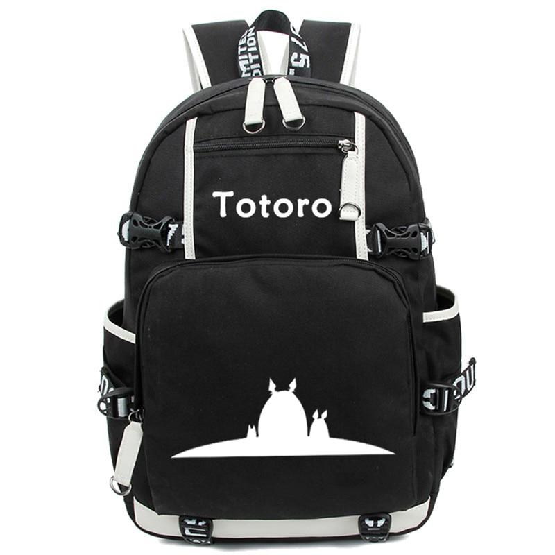 Anime Totoro School Bags Backpack My Neighbour Totoro Luminous Students Bookbag Laptop Schoolbags Rucksack Free Shipping #4
