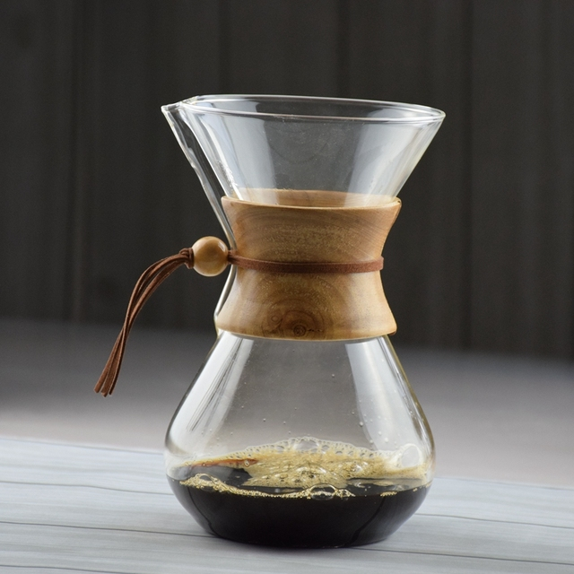 FREE SHIPPING  CHEMEX Style Coffee Brewer 3-6 Cups Counted  Espresso Coffee Makers Coffee Machine
