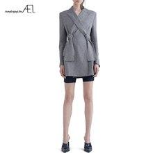 AEL, новинка, высокое качество, осень-весна, Женский блейзер, элегантные, модные, для девушек, пиджаки, костюмы с бантом,, женский пиджак, костюм